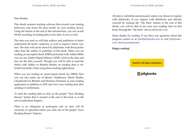 Screenshot of iBooks showing the Jellybooks bookplate